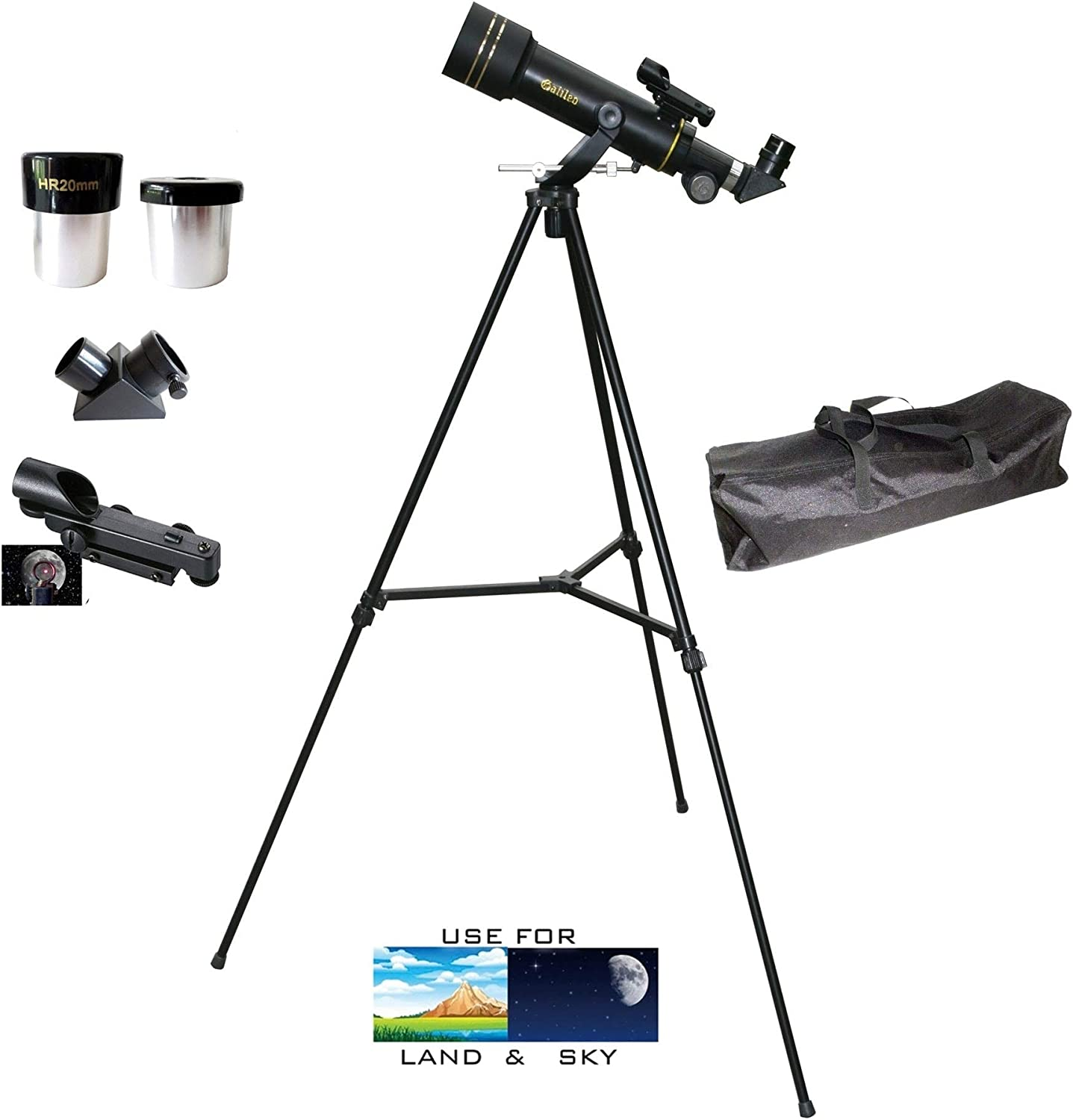 Unknown1 X 60mm Day//Night Portable Back Refractor Telescope