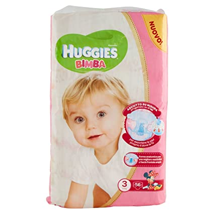 Huggies - Bimba - Pañales - Talla 3 (4-9 kg) - 56