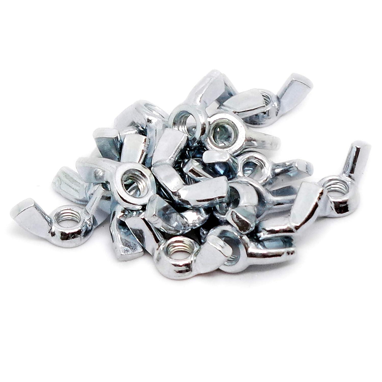 Stahl 5 mm Fl/ügelmuttern M5 20 St/ück