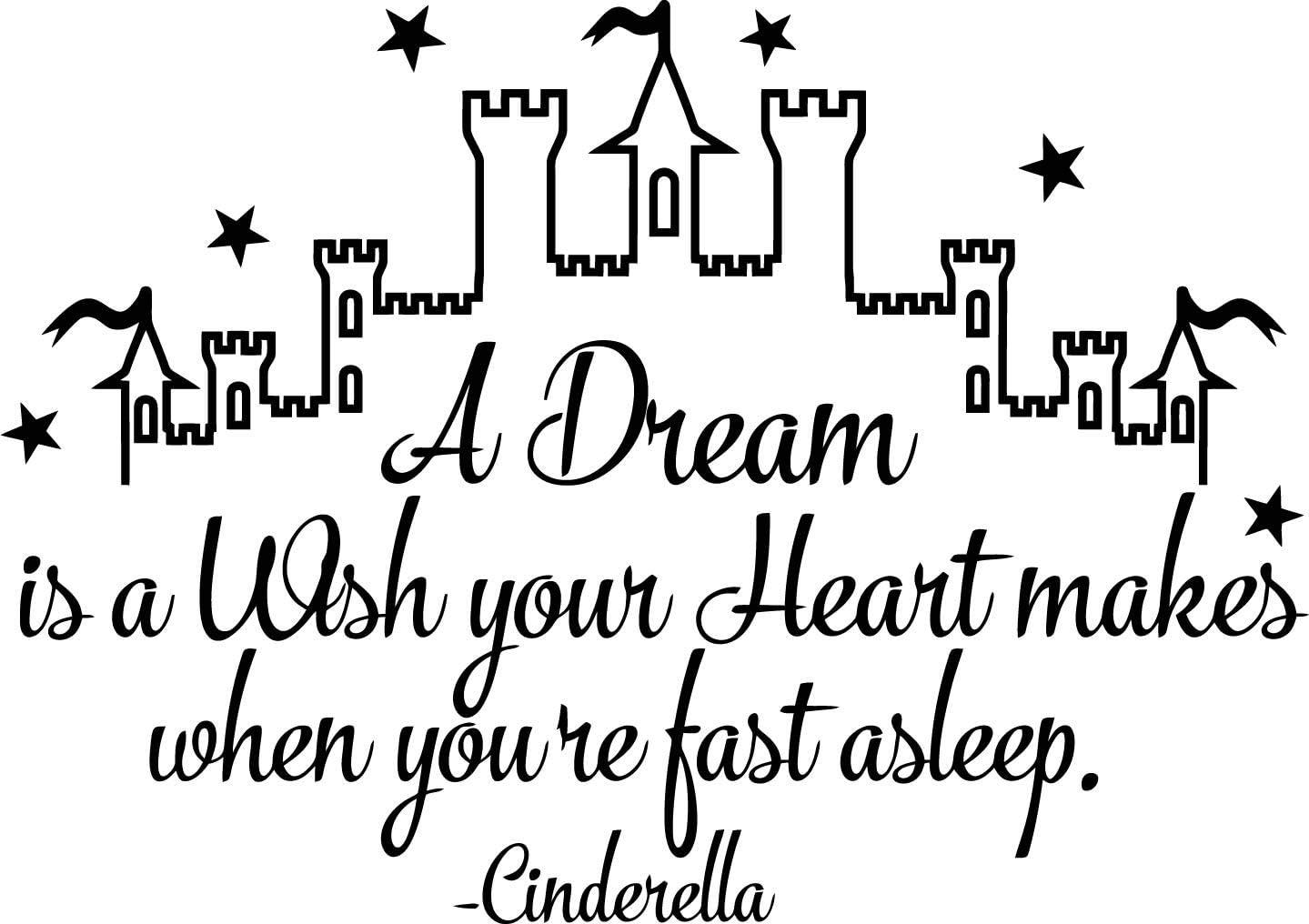 Cinderella Wall Decals Cinderella Quotes Sign Walt Disney Castle Fairy Decor Nursery Baby Quote Girl Gift Stencil Vinyl Sticker Home Girl Bedroom Decor Art Disney Poster Mural Custom Print 871
