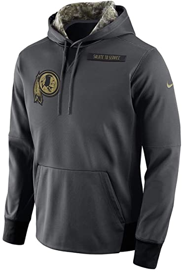 Men's Nike Washington Redskins Salute to Service Player Fleece Pull Over  Anthracite Size Medium
