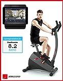 ergómetro SPORTSTECH ESX500 con App control Smartphone + Street View, 12 KG inertia -compatible con correa de pulso -entrenador de fitness a casa con sistema de accionamiento por correa de bajo ruido