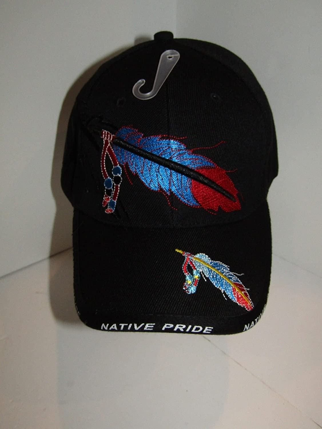 Indian feathers and beads Indian pride Indian shadow black cap
