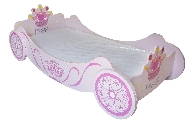 Kiddi Style Cama Infantil Madera Carroza de Princesas - Madera - para niños PRNC-1CB