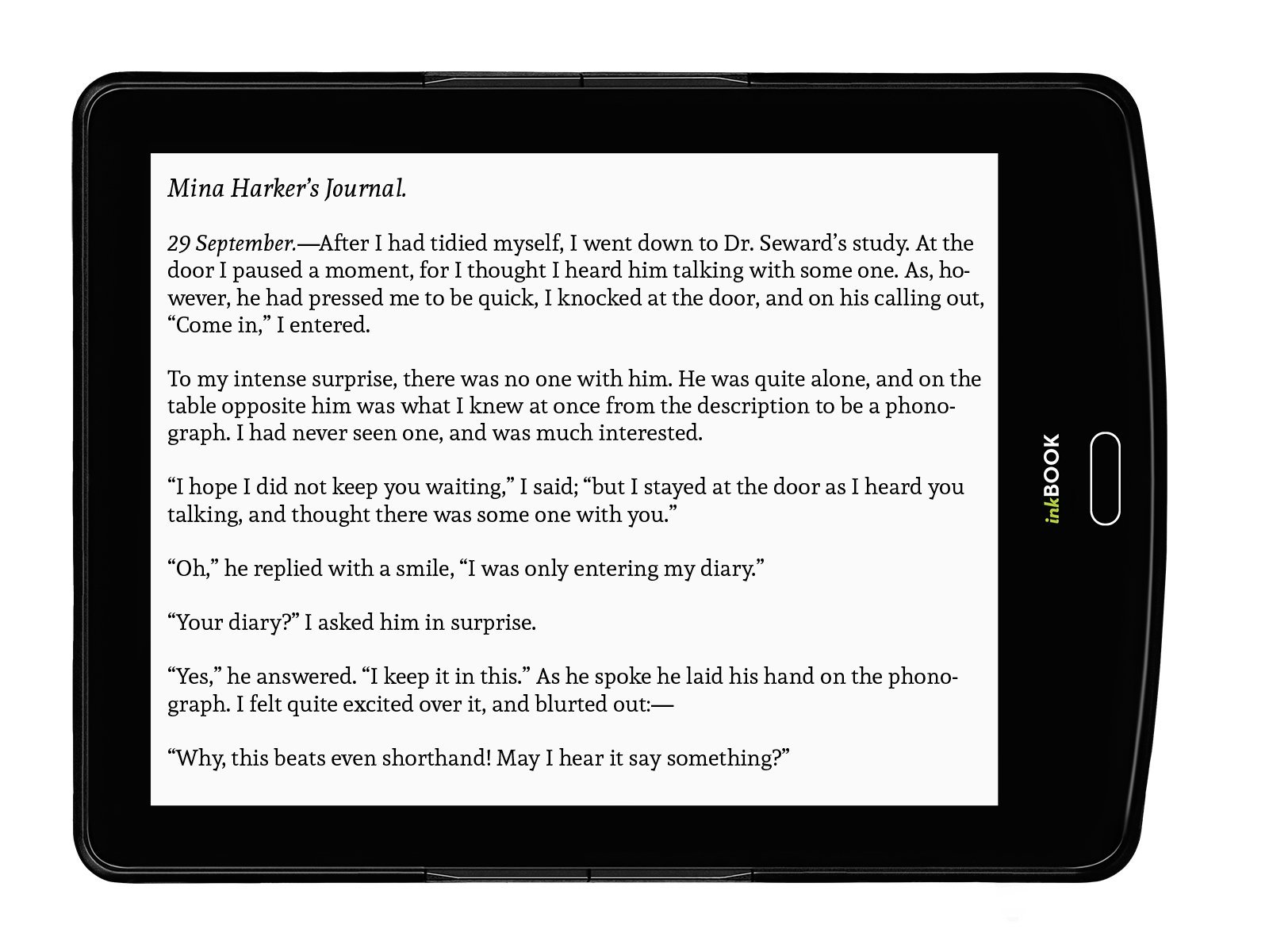 inkBOOK Prime - 6'' ebook reader with ePaper E Ink Carta Flat Glass Solution touchscreen with Rapid Refresh technology, Built-in Light (8 LED), Android, App Store, Wi-Fi, 8 G by inkBOOK (Image #5)