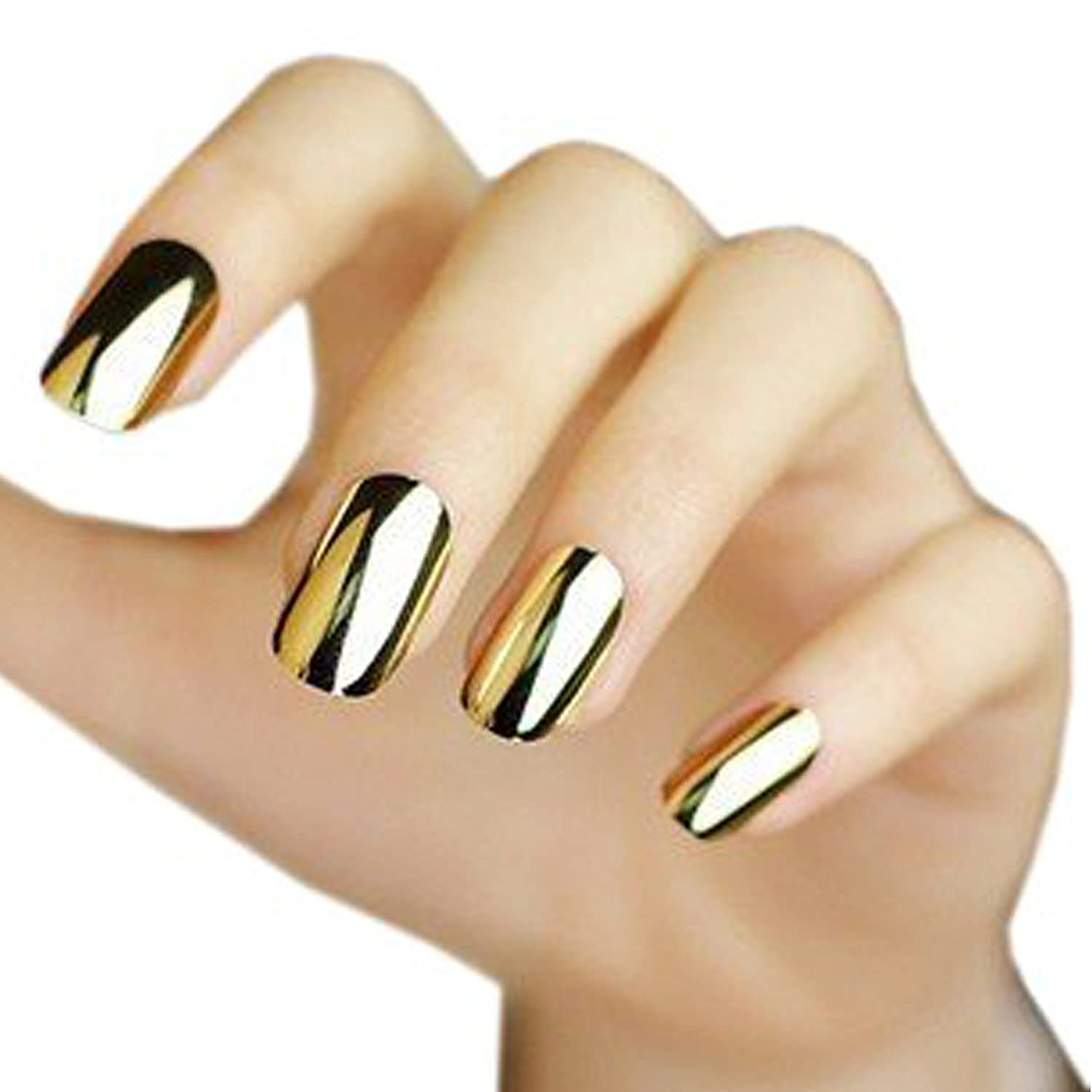 Amazon.com : Good2Deal 2* Fashion Super Star Nail Art Polish Gold ...