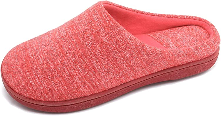Amazon Com Bctex Coll Women S Cotton Slippers Cozy Memory Foam Slip On House Slippers Ladies Clog Slippers With Indoor Outdoor Non Slip Sole Slippers