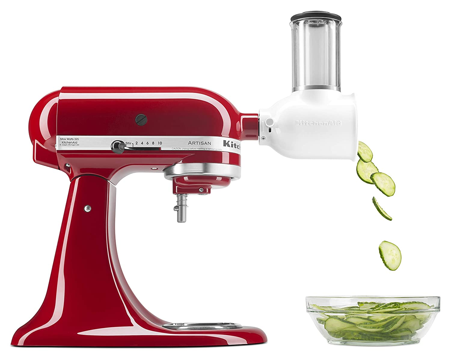 KitchenAid KSMVSA Fresh Prep Slicer/Shredder Attachment, 1 White