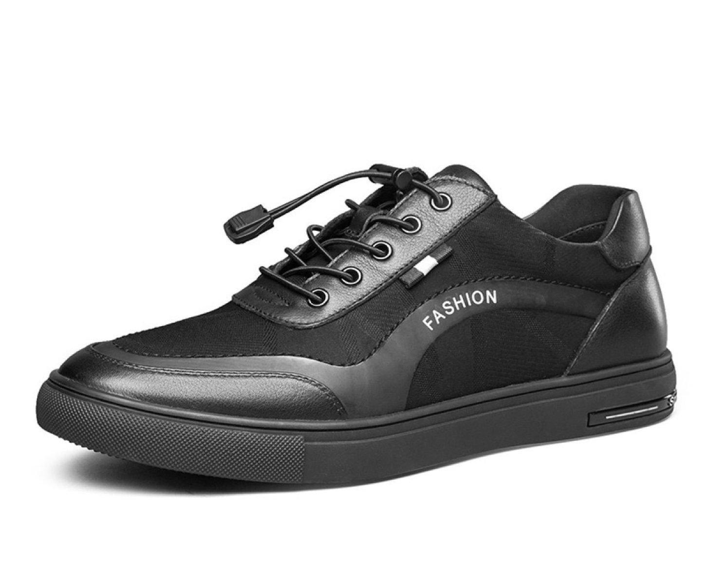 MUYII Herren Lederschuhe Für Männer Plain Toe Leder Loafer Klassische Casual Sport Mens Rutschfeste Bequeme Schuhe
