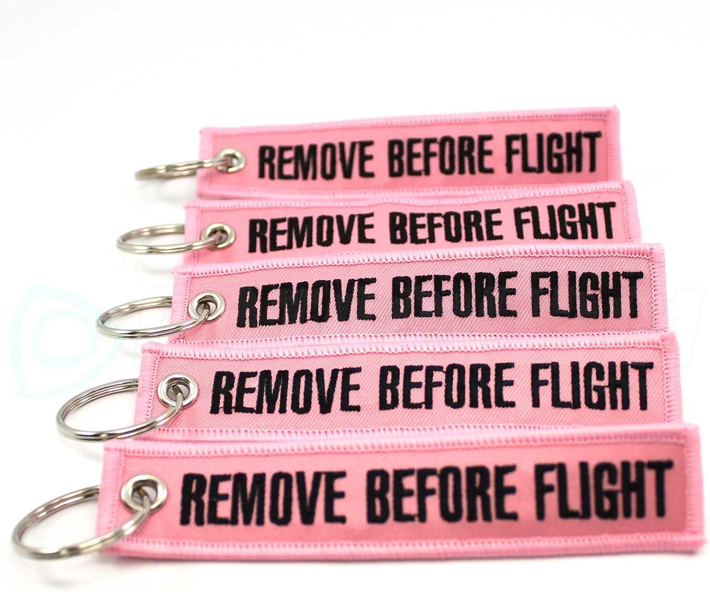 Black//Pink Remove Before Flight 5pcs Rotary13B1 Keychain