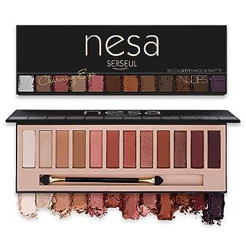 Amazon.com: Paleta de sombras de ojos Serseul Nudes de alta ...