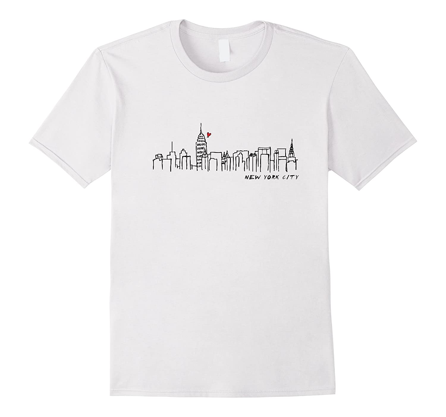 Nyc Shirts New York City T Shirts Manhattan Skyline Tee Rt