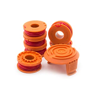 Garden Ninja [7-Pack Replacement Trimmer/Edger Spool for WA0010, 6 Spool with 1 Cap