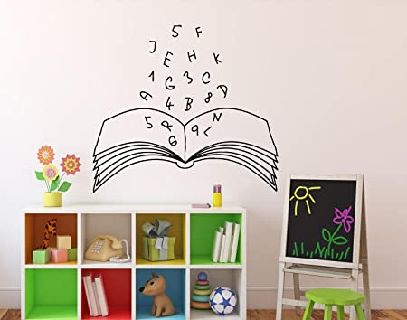 Books Education Wall Vinyl Decal Library School Wall Sticker Classroom  Interior Living Room Window Decals Housewares