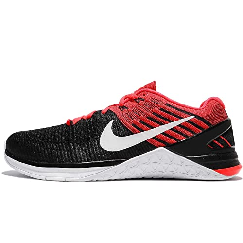 420c4265e328 Nike Metcon DSX Flyknit Size 10.5 Mens Cross Training Black White-Bright  Crimson-Gym Red Shoes  Buy Online at Low Prices in India - Amazon.in