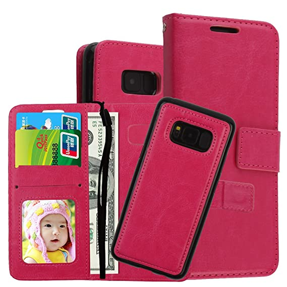 brand new 9263a 54446 Amazon.com: for Girl Galaxy S8 Wallet Case,Best Fashion PU Cute ...