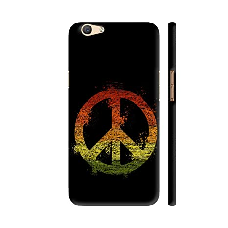 f2b0a770e Colorpur Peace Symbol Printed Back Case Cover for Oppo  Amazon.in   Electronics