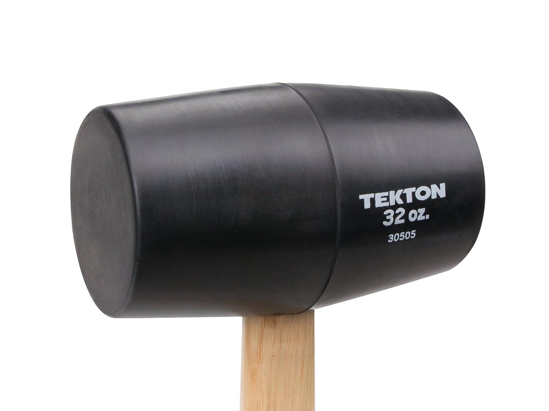 TEKTON 30503 Wood Handle Rubber Mallet 16-Ounce