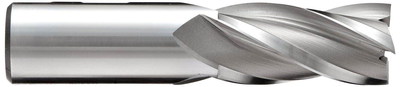 Non-Center Cutting YG-1 E2031 Cobalt Steel Square Nose End Mill Uncoated 4 Flutes Finish 0.375 Shank Diameter Weldon Shank 0.3125 Cutting Diameter 2.5 Overall Length 30 Deg Helix Bright