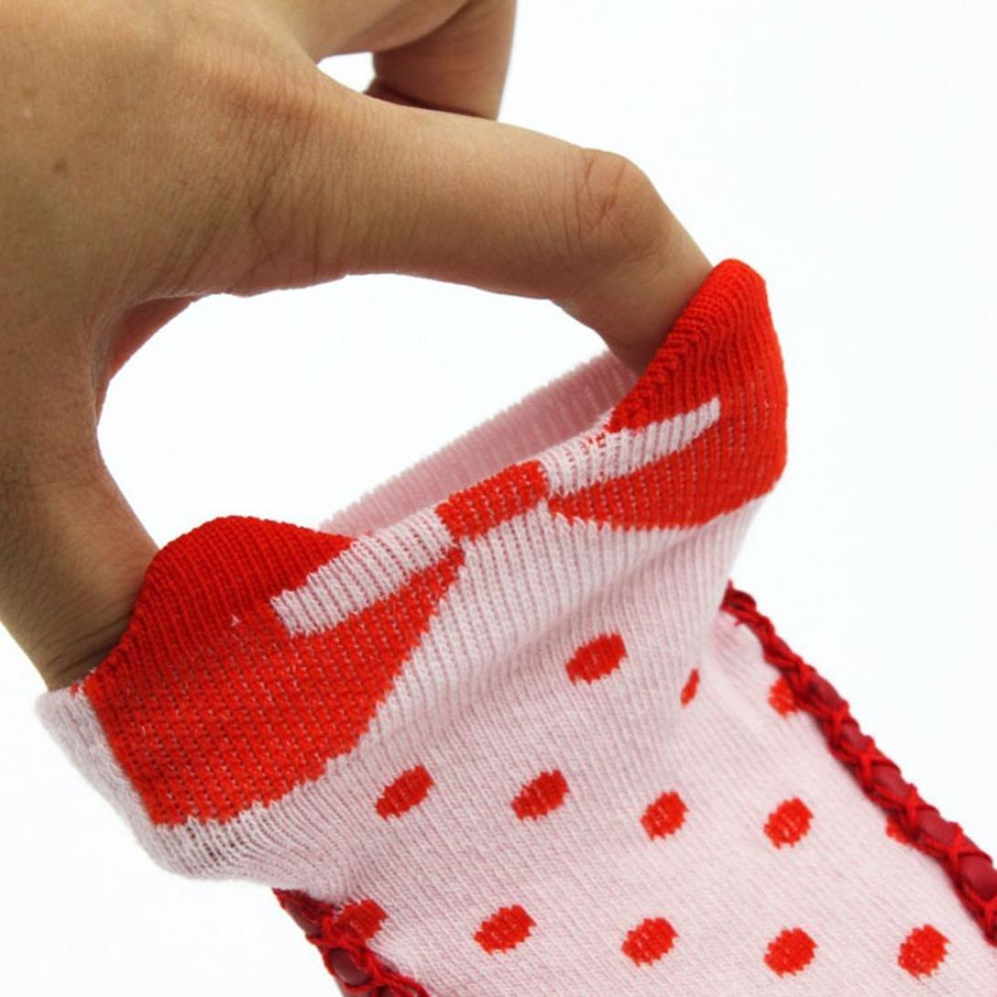 Iuhan Newborn Bow Dot Anti Slip Non Skid Slipper Socks For Baby Toddler Kids Girls