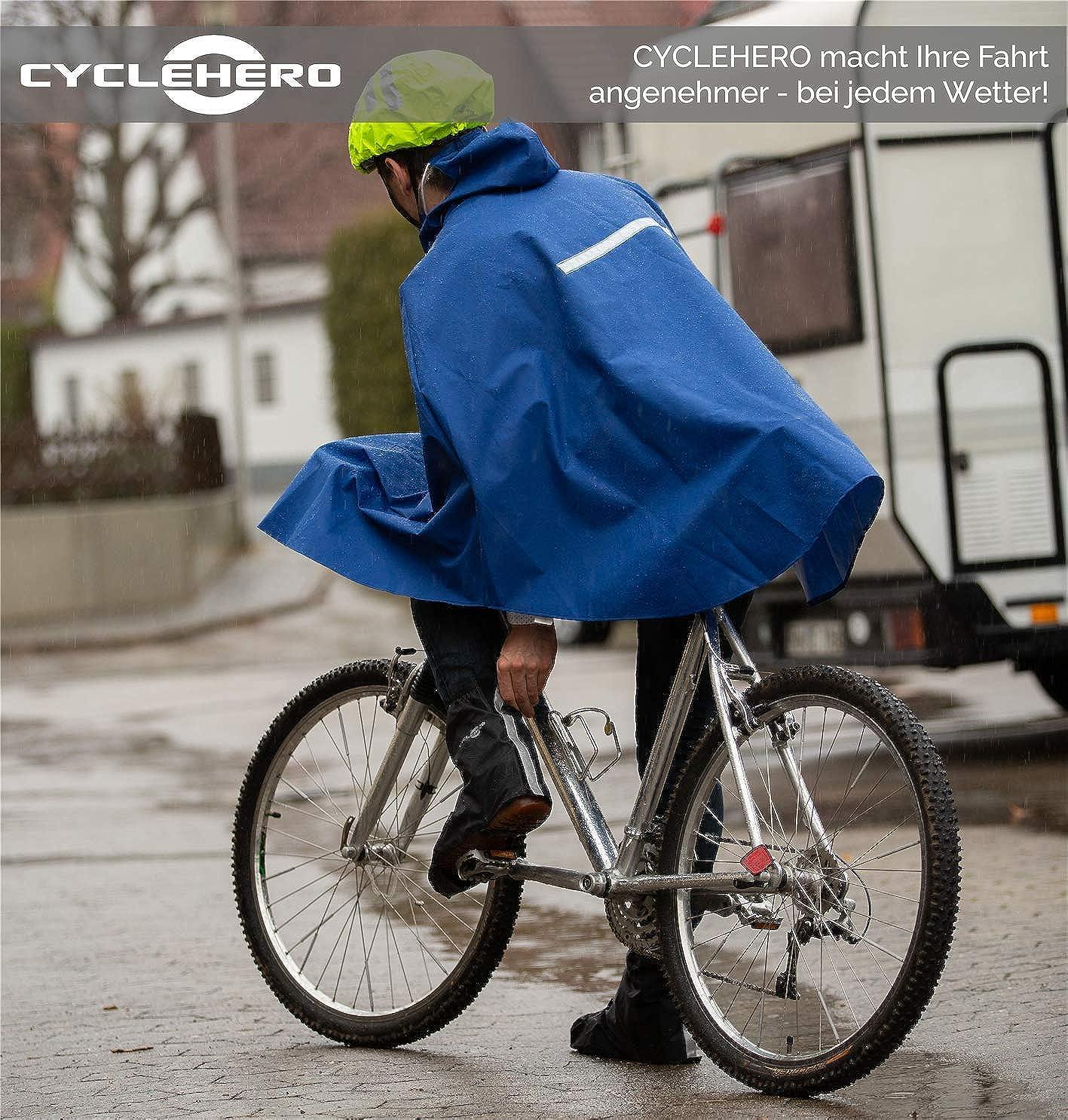 Reflektor-Streifen Regen/überschuhe Outdoor Unisex /Überschuhe Fahrrad untersch. Farben und Gr/ö/ßen /Überschuhe wasserdicht inkl Gr/ö/ßenregulierung und stabiler Lauffl/äche f/ür Herren und Damen