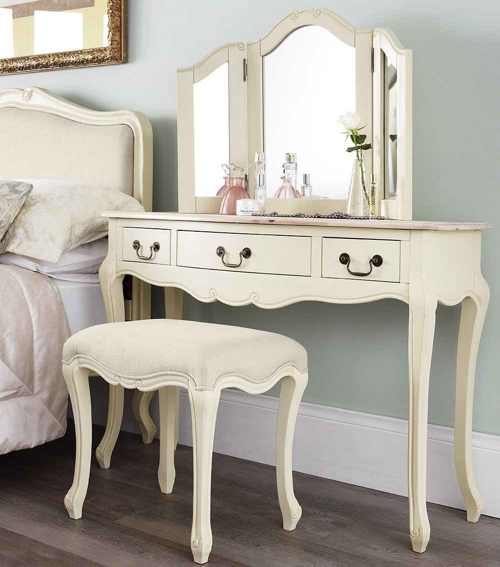 Victorian dressing table - Juliette Shabby Chic Champagne Dressing Table Only Stunning Cream Dressing Table With Limend Finish Top