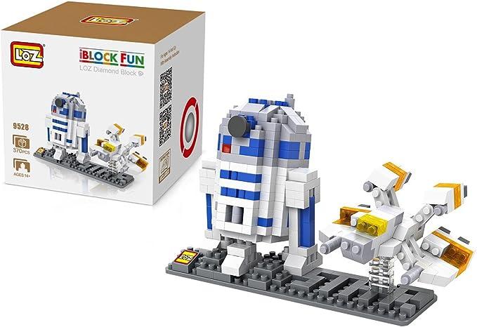 Loz 9528. Kit de construccion miniaturizada. Star Wars R2D2 + Nave. 370 piezas: Amazon.es: Juguetes y juegos