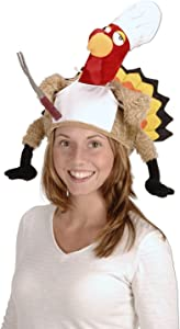 Plush Chef Turkey Hat Party Accessory (1 count) (1/Pkg)