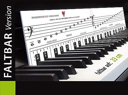 Plantillas plegables para aprender a tocar con alegría y diversión, diseño de piano con corazón
