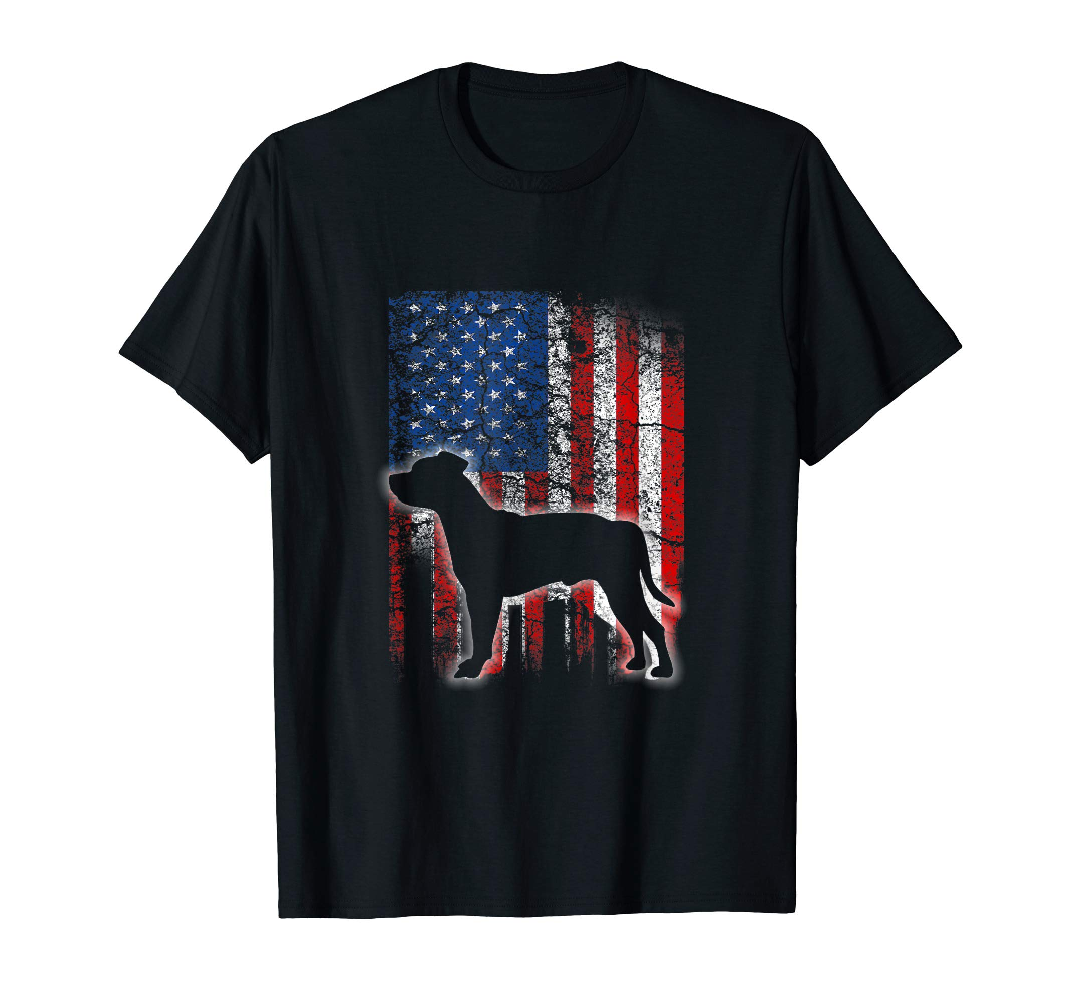 American Flag Staffordshire Bull Terrier Dog Lover Shirts 1
