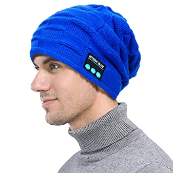 f10888e96c8 Bluetooth Slouchy Beanie Hat with Wireless Headphones Clearace for Men  Women- Iuhan Unisex Outdoor Sport