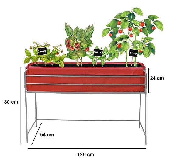 Huerto urbano Veggie Bag 126x54x80 cm.Color rojo: Amazon.es: Jardín