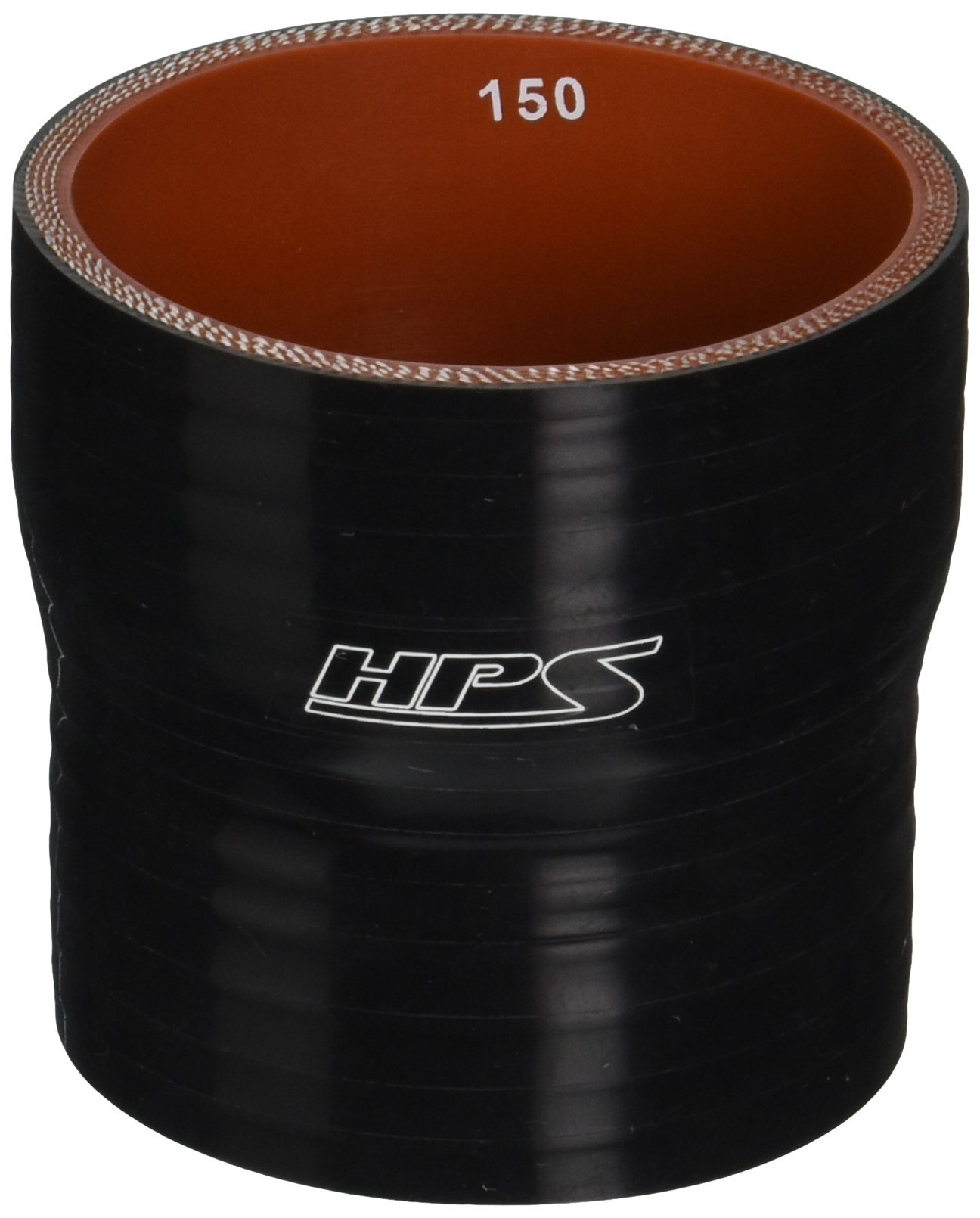 HPS HTSR-250-275-BLK Silicone High Temperature 4-ply Reinforced Reducer Coupler Hose, 50 PSI Maximum Pressure, 3'' Length, 2-1/2'' > 2-3/4'' ID, Black