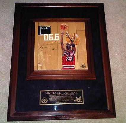 1fb0d792e23 Amazon.com: Michael Jordan Signed Game Used Chicago Bulls Final Shot Floor  Court LE#8/23 - Upper Deck Certified - Basketball Slabbed Cards: Sports ...