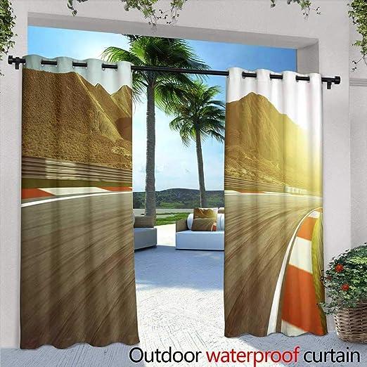 Cortina de privacidad para exteriores para Pergola, diseño moderno de verano sin costuras, fondo de fruta