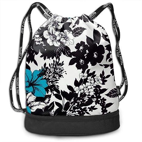 Flower Drawstring Backpack Rucksack Shoulder Bags Training Gym Sack For Man And Women