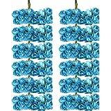 144pz Carta Artificiali Rosa Boccioli Di Fiori Mini Partito Decorazione Feste - Blu