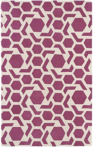 Kaleen Rugs Revolution Collection REV05-92 Pink Hand Tufted 9 6 x 13 Rug