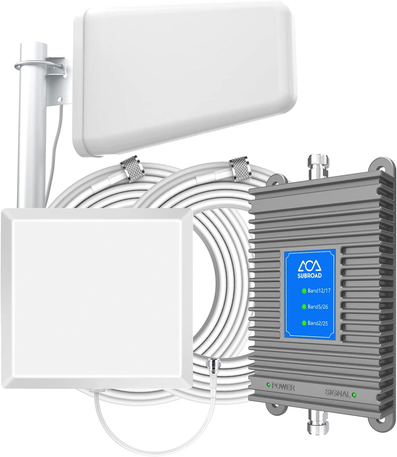 ATT Cell Phone Antenna Booster for Home GSM 3G 4G LTE Band 2/5/12/17 AT&T T-Mobile U.S. Cellular Cricket Cell Phone Signal Booster Boost Voice and Data Cover Up to 5,000 Sq Ft