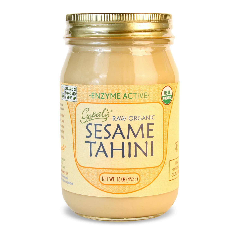 Gopal's Raw Organic Sesame Tahini from Non-GMO, Vegan, Gluten-Free and Certified Organic Sesame Seeds 16 Ounces (453 Grams)