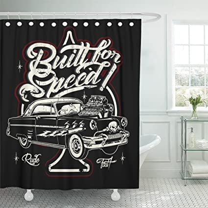 Amazon Emvency Shower Curtain Print 72x78 Rockabilly Cartoon