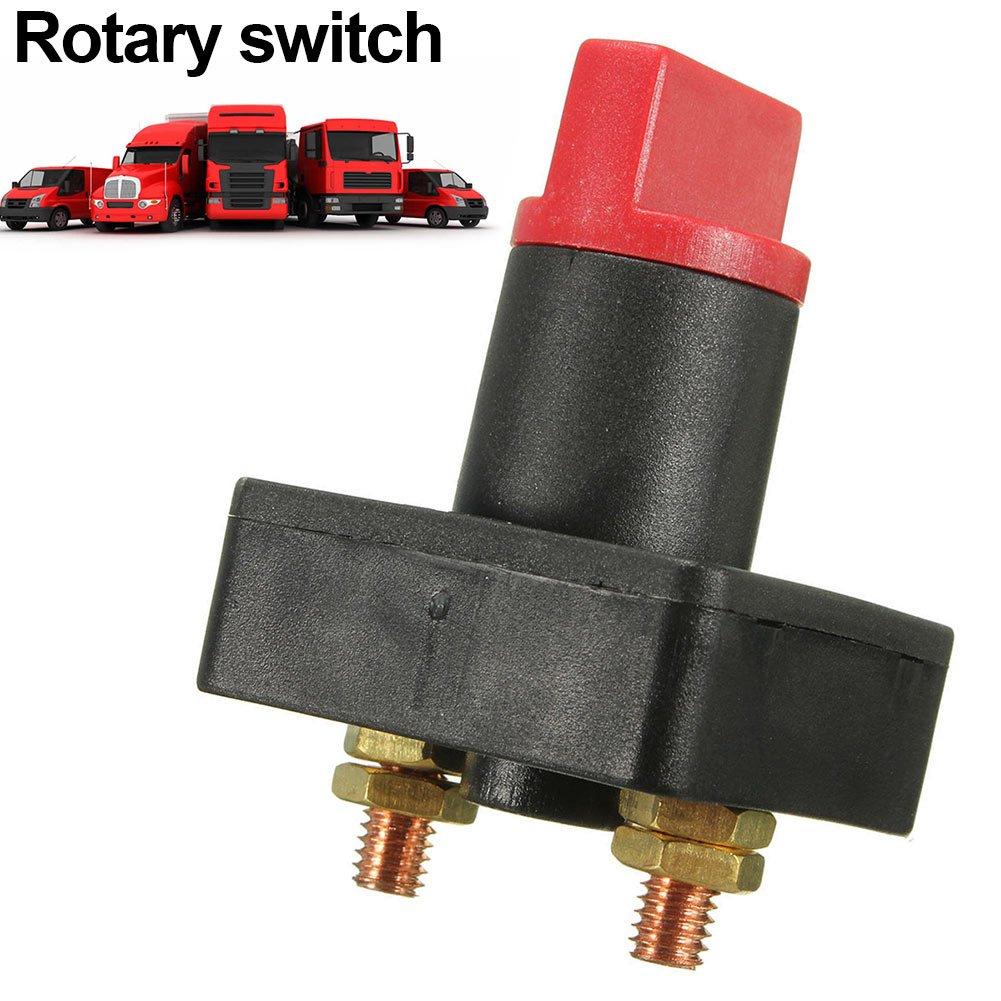 Talla /Única Blue Sea Systems 661-5511E Interruptor Bater/ía Dos Bancos Serie E On//Off Rojo