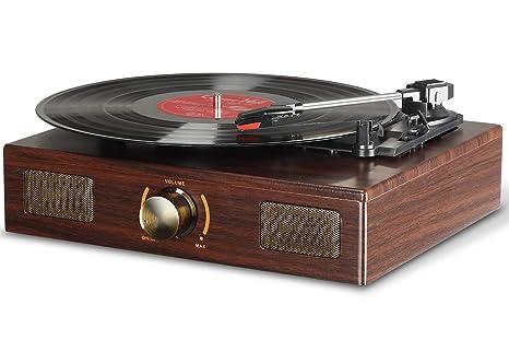 Tocadiscos, Lugulake reproductor de discos retro reproductor de ...