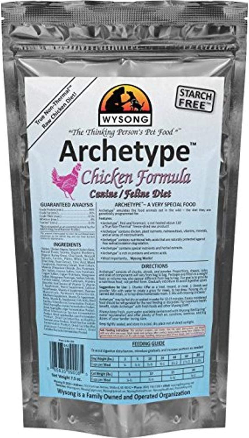 Wysong Archetype Raw Canine/Feline Diet Dog/Cat Food - 7.5 Ounce Bag