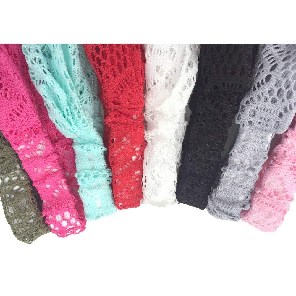 DRESHOW 8 Pack Women Headbands Headwraps Hair Bands Bows Accessories