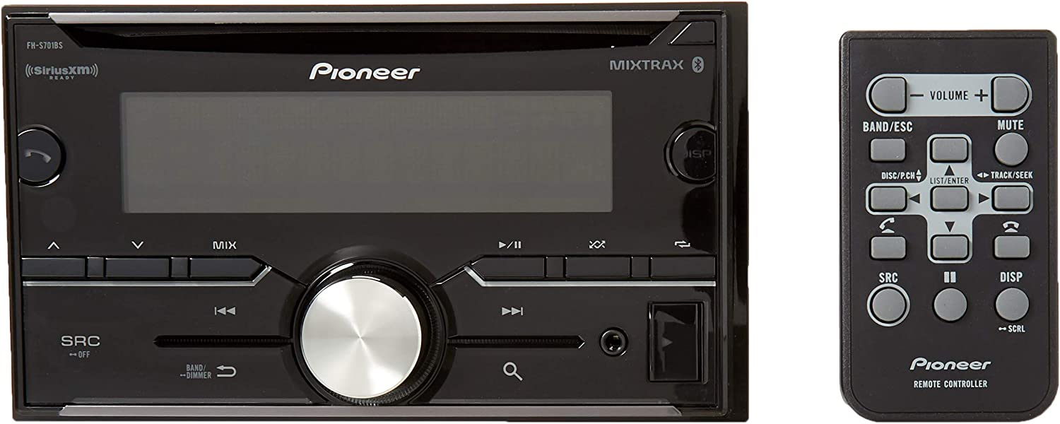 MIXTRAX Pioneer FH-S701BS 2-DIN CD Receiver with Pioneer ARC App Compatibility Bluetooth and SiriusXM-Ready