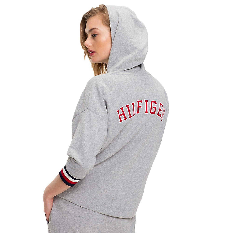 Tommy Hilfiger Pull Over Modern Stripe Hoodie - Grey Heather
