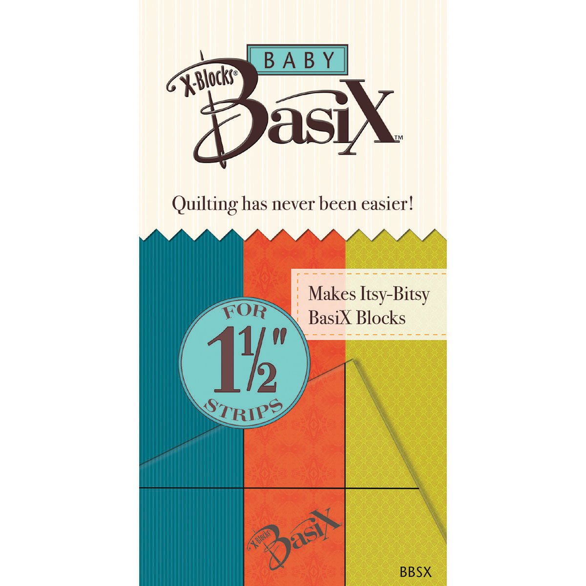 Colonial Needle Baby Basix by X-Blocks Template, 1-1/2-Inch Unlimited design BBSX