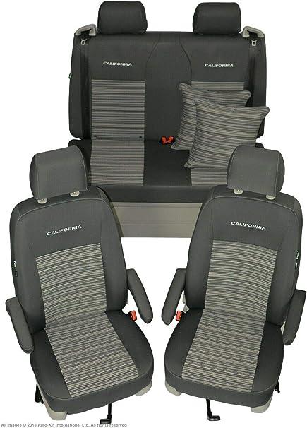 Sitzbezüge Housses De Protection Set AD pour vw t5 Transporteur en tissu noir