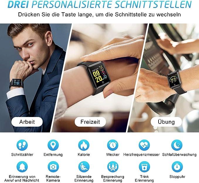 Mpow Bluetooth Smart Watch Fitness Reloj Inteligente Reloj de ...